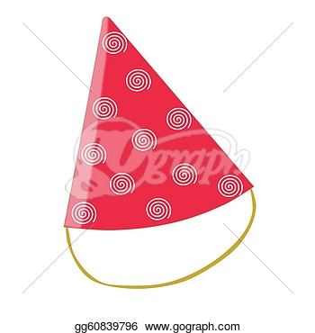 Stock Illustration   Red Birthday Or Party Hat  Clipart Illustrations