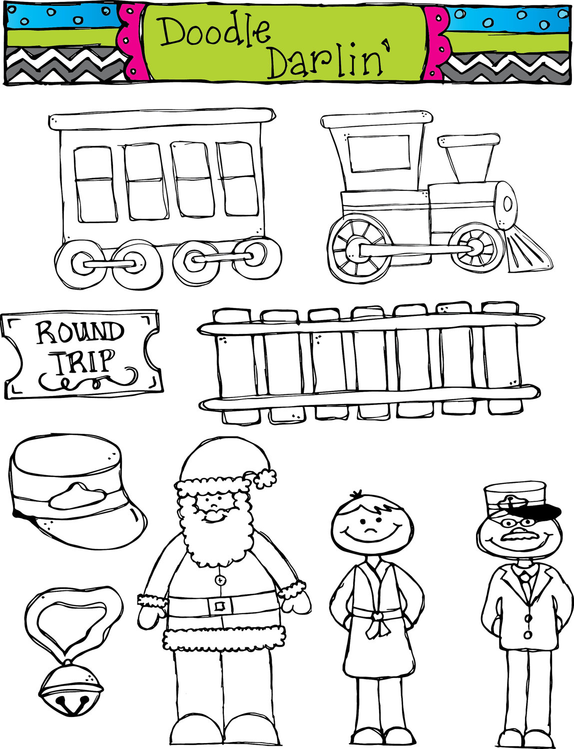 Back   Gallery For   Polar Express Clip Art Black And White