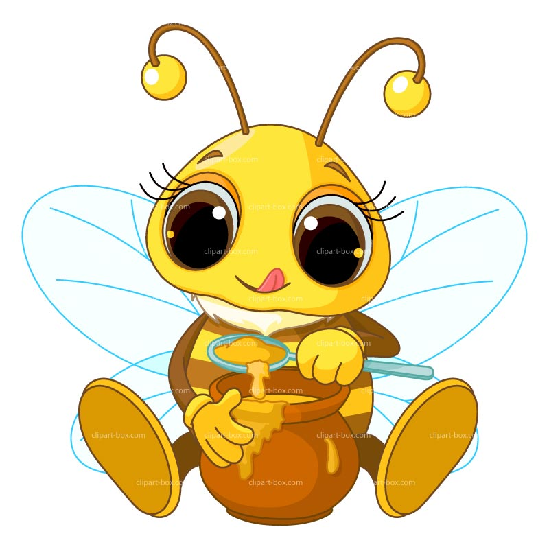 Clipart Little Bee   Royalty Free Vector Design
