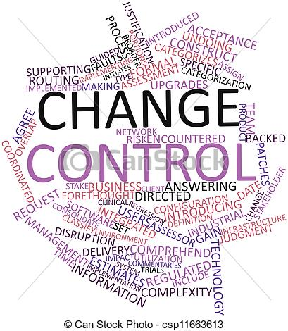Clipart Of Word Cloud For Change Control   Abstract Word Cloud For