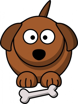 Cute Dog With Bone Clip Art   Clipart Panda   Free Clipart Images