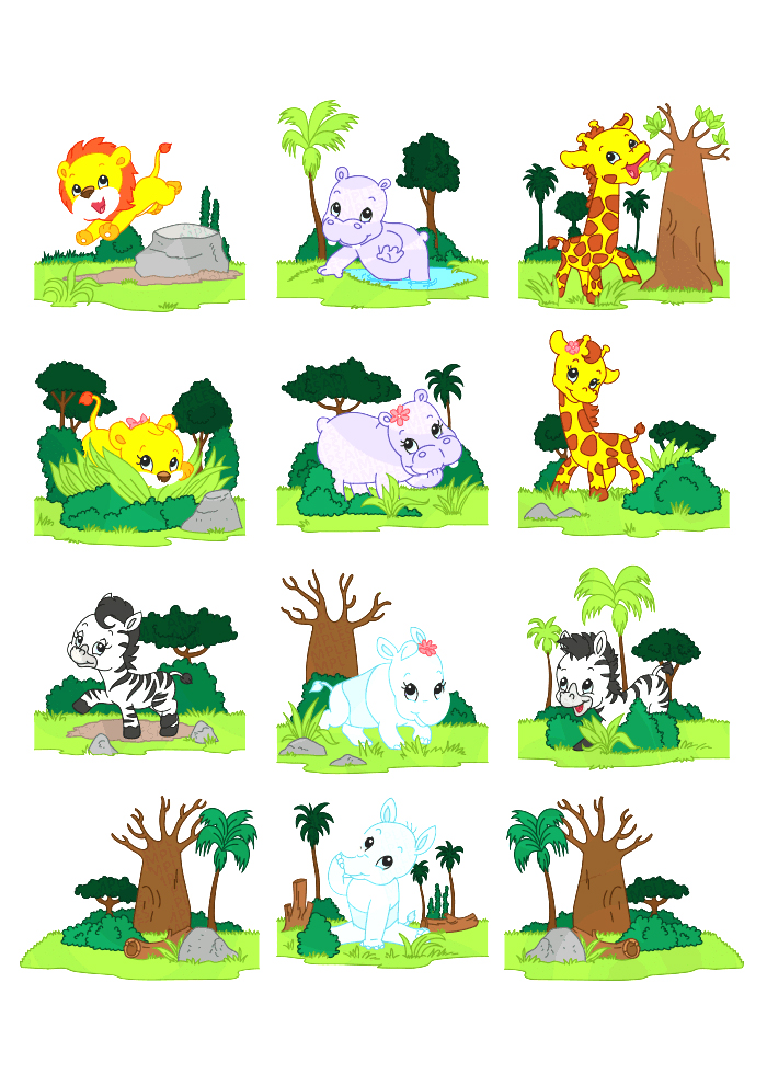 Cute Wild Life Animals Playing And Dancing In The Jungle  Looks Very
