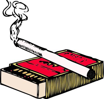 Free Cigarette And Matchbox Clipart   Free Clipart Graphics Images
