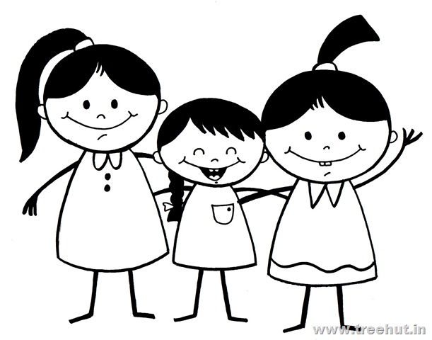 3 Girls Clipart - Clipart Suggest