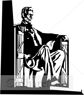 Lincoln Statue   Lay Holiday Clipart