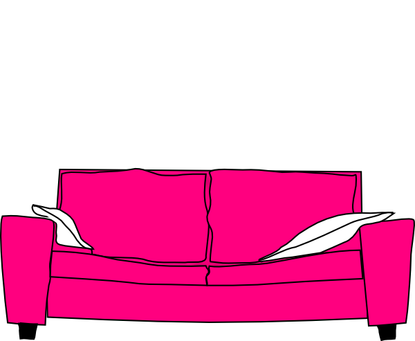 Pink Couch With Pillows Clip Art At Clker Com   Vector Clip Art Online