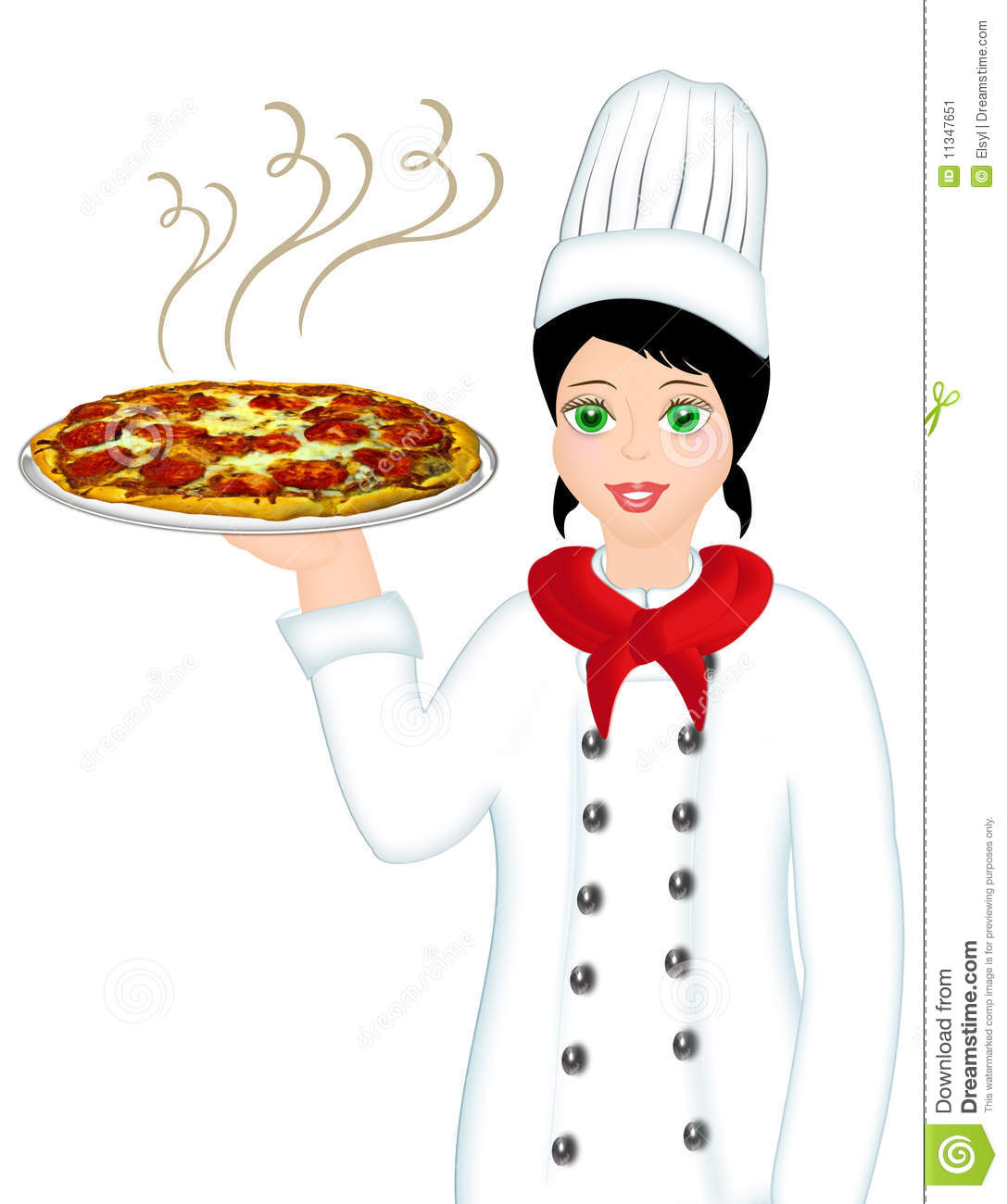 Pizza Chef Stock Image   Image  11347651