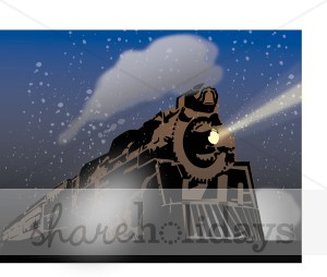 Polar Express   Christmas Train Clipart