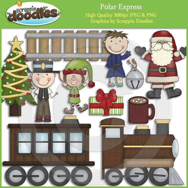 Polar Express Clip Art Download    4 00   Scrappin Doodles Creative
