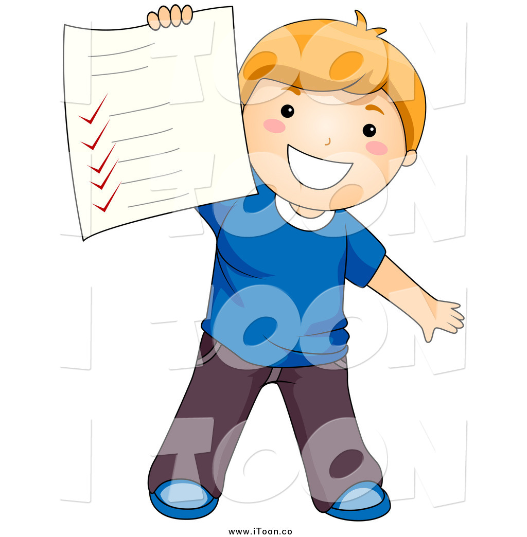 Proud Student Clipart A Proud School Boy Holding
