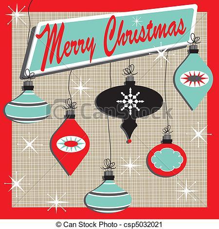 50s Retro Christmas Clipart - Clipart Kid