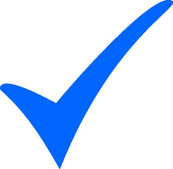 Simple Blue Tick Clip Art At Clker Com   Vector Clip Art Online