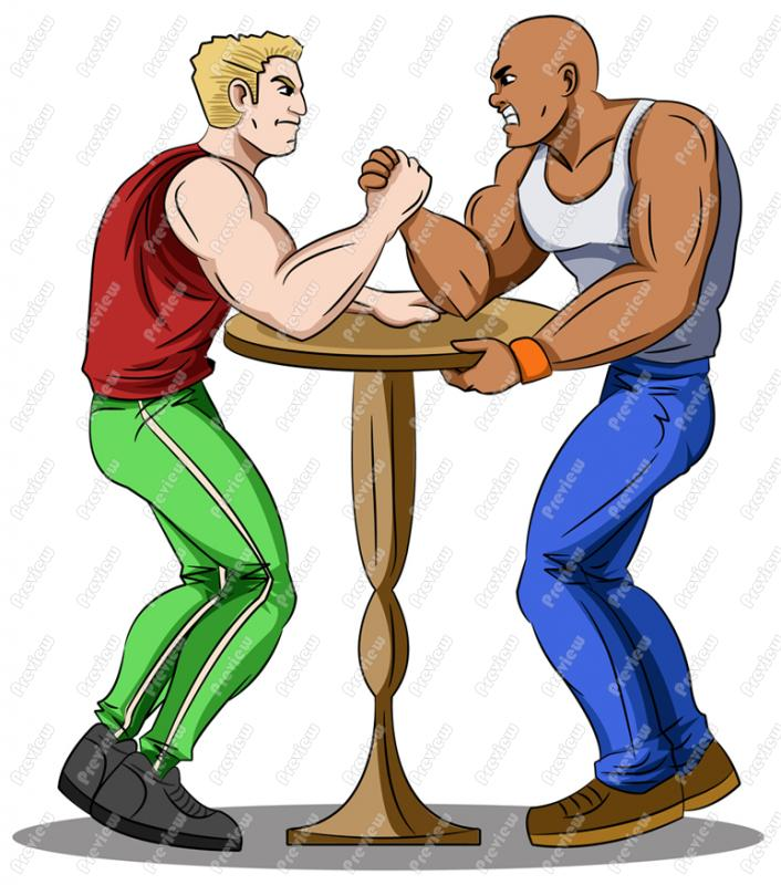 Arm Wrestling Clipart - Clipart Kid