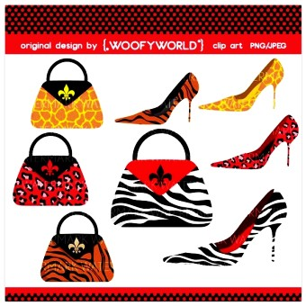 Clip Art   Zebratigerfashionboutiqueshoehandbaghigh Heels