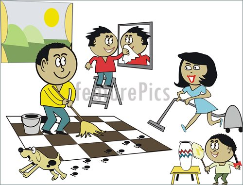House Cleaning  Cartoon House Cleaning Images
