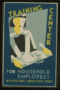 Household Service Demonstration Project W P A    Cleo  Clip Art
