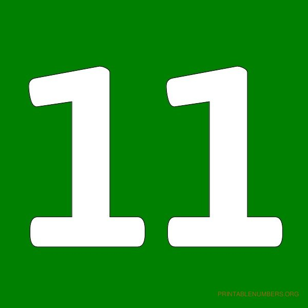 number eleven clipart