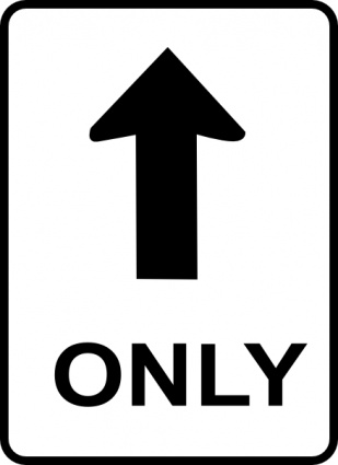 One Way Sign C