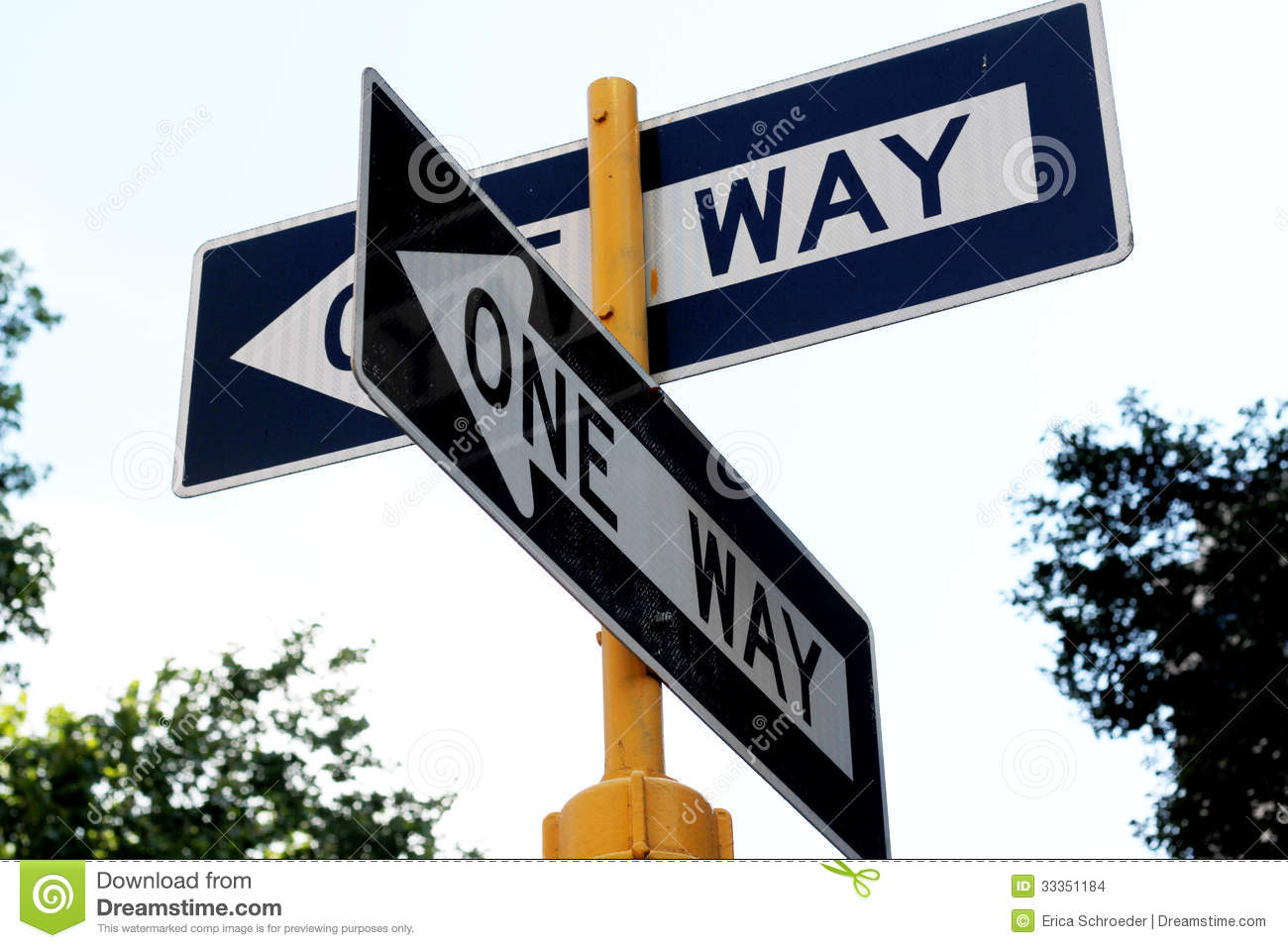One Way Street Stock Images   Image  33351184