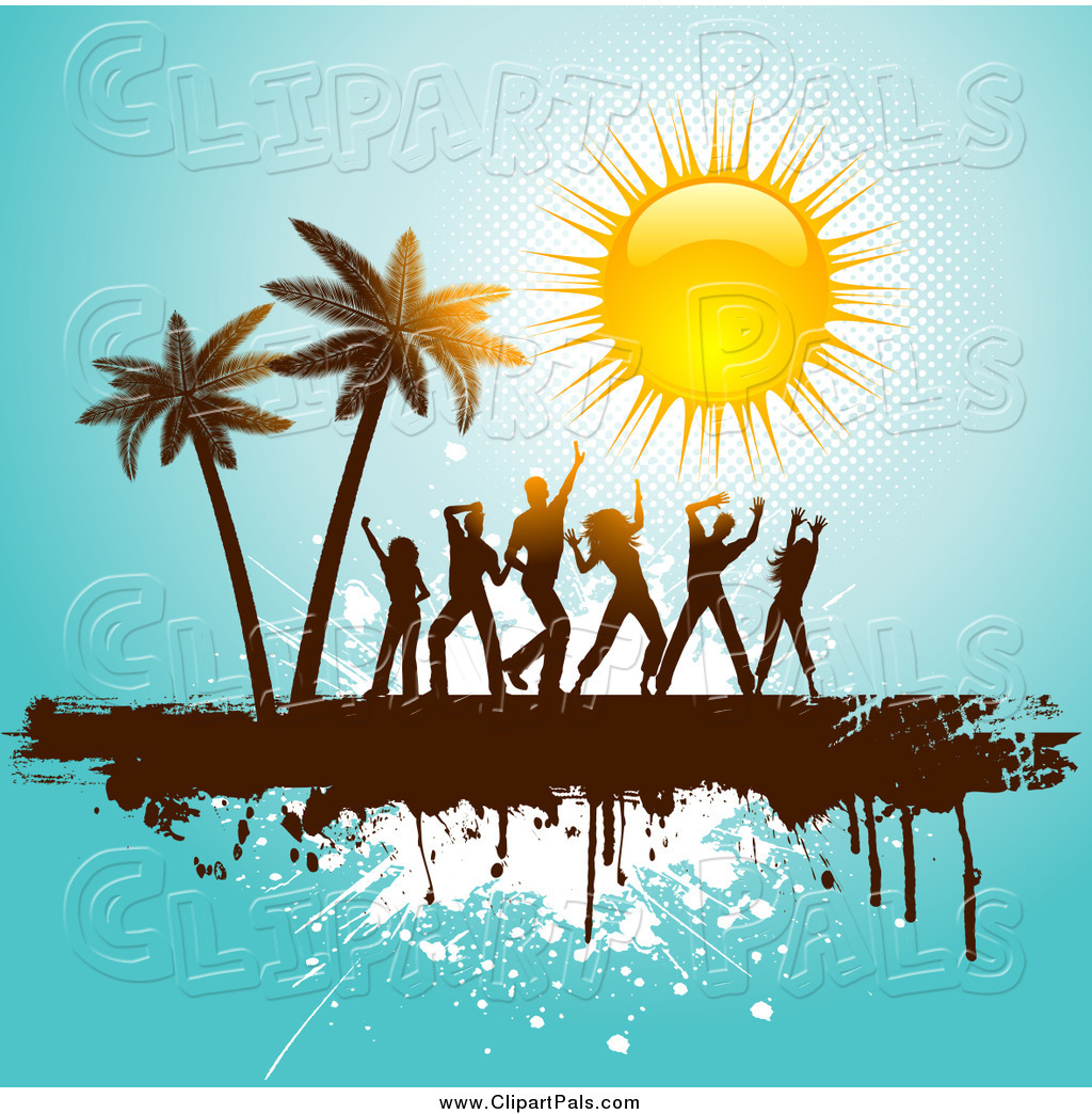 Royalty Free Beach Party Stock Friend Clipart Illustrations