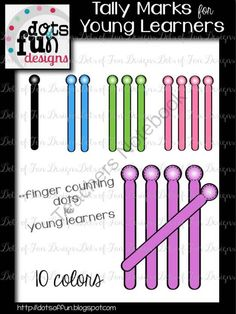 Tally Mark Clip Art For Young Learners From Dots Of Fun On