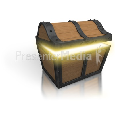 Treasure Chest Open Glow   Home And Lifestyle   Great Clipart For