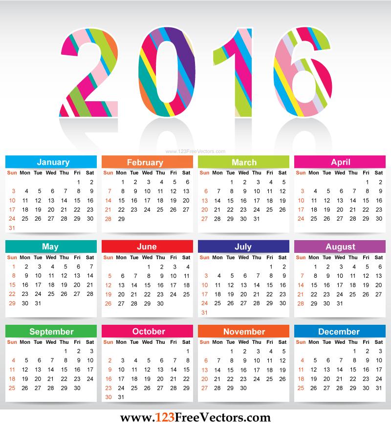 2016 Calendar Templates   Ohtoptens