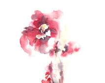 Abstract Flower Watercolor Painting  Original Watercolor Painting