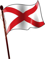 Alabama State Flag On Flagpole Clipart Alabama State Flag On