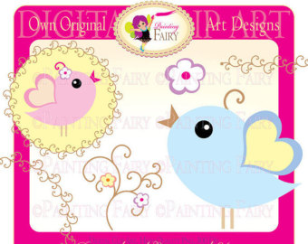 Baby Colo Rs Clipart Flower Whimsical Tendril Designer Layout Digital