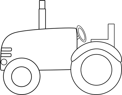 Black And White Tractor Clip Art   Black And White Tractor Image