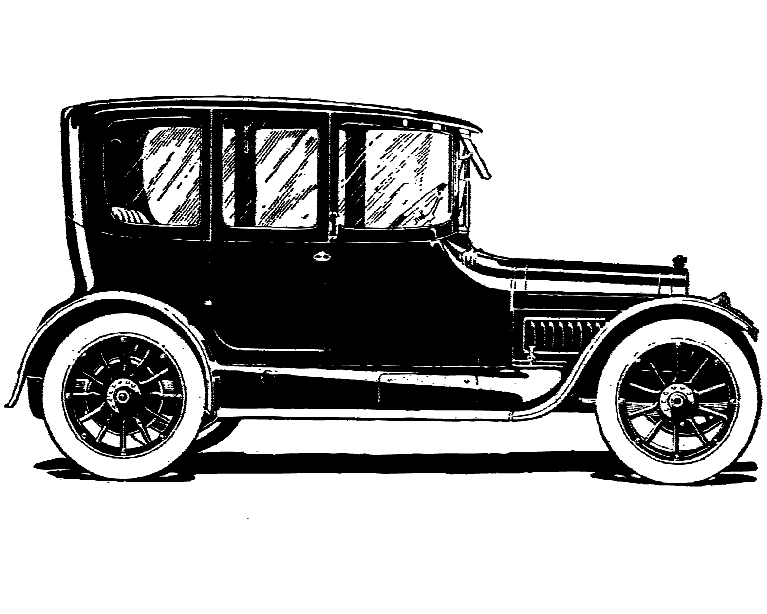 Classic Car Clipart Black And White One Else Is Really Out