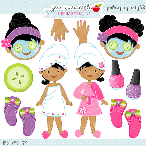 Clipart Commercial Use Ok Spa Party Graphics Spa Party Clipart