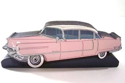 Details About New Shelia S 50 S Car Classic Pink Cadillac Wooden Shelf