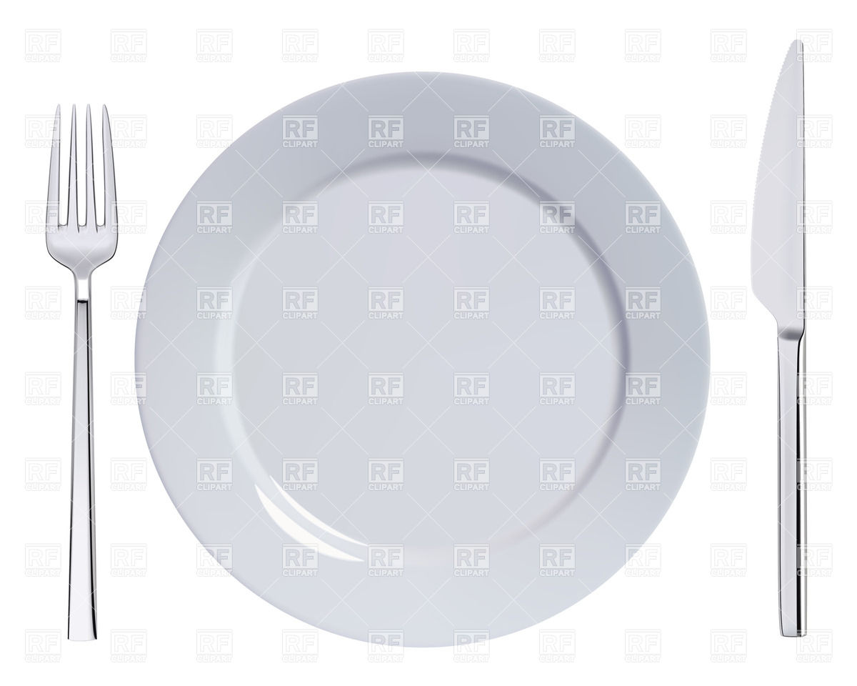 Dinner Plate Knife And Fork 27745 Food And Beverages Download