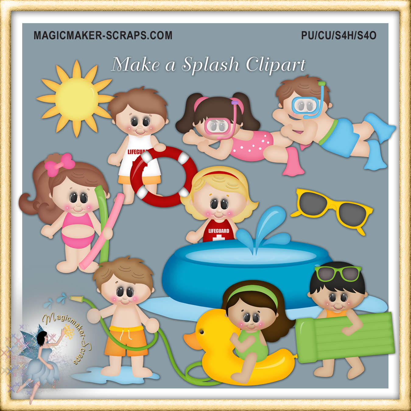 Dog Days Of Summer Clipart    1 00   Magicmaker Scraps Shoppe