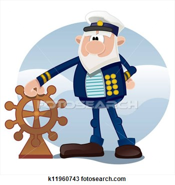 Drawing   Old Sailor  Fotosearch   Search Clipart Illustration
