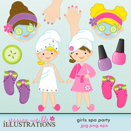 Spa Party Clipart - Clipart Suggest