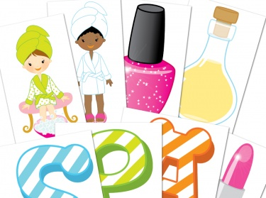 Clip Art Spa Clip Art spa party clipart kid girls digital clipart