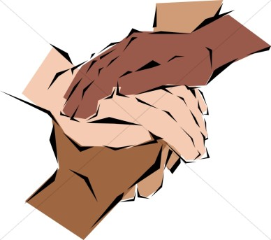 Many Hands Joined   Fellowship Clipart