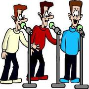Men Singing In Three Part Harmony Royalty Free Clipart Picture 090422