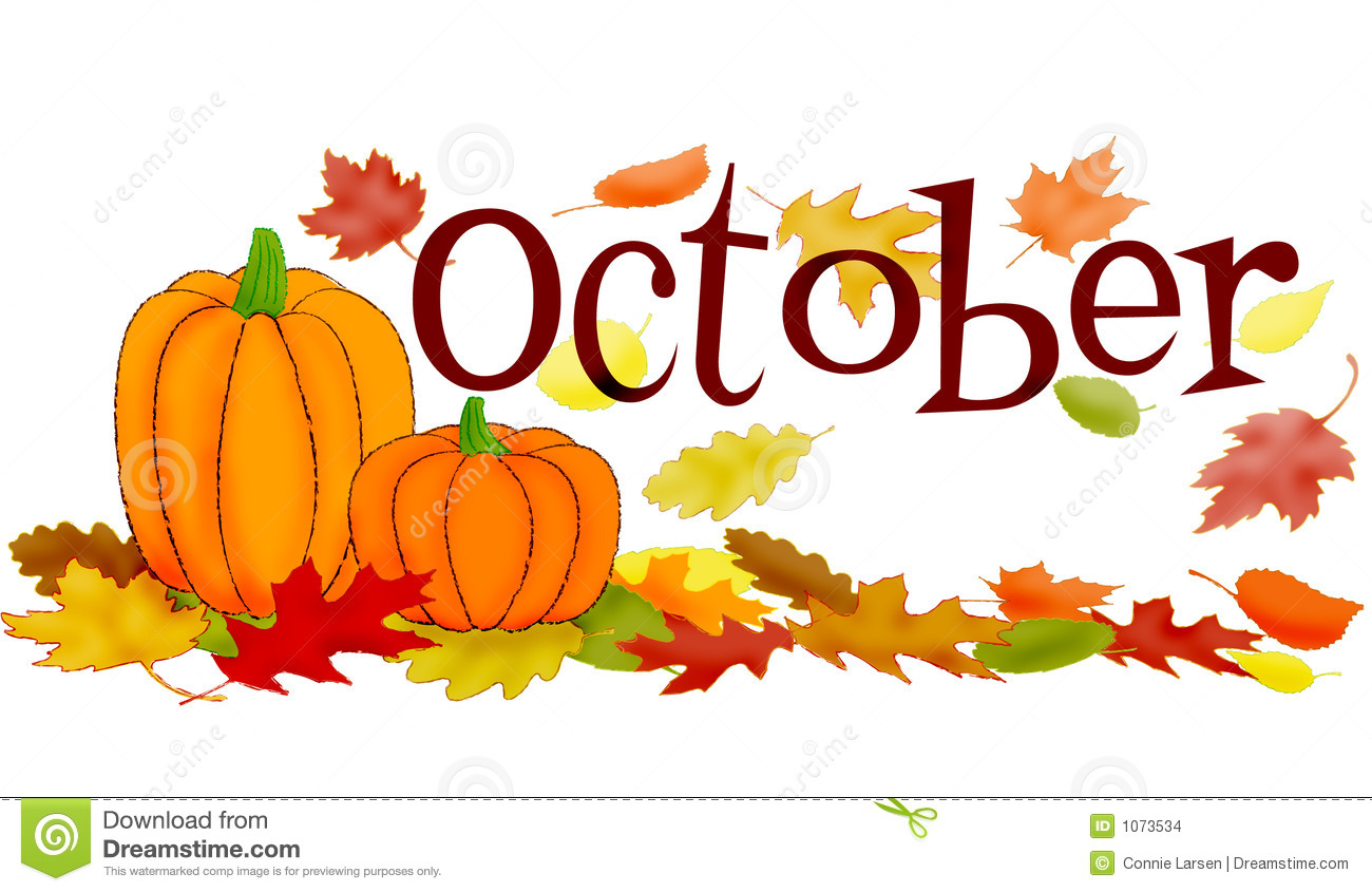 Month Of October Clipart October Scene