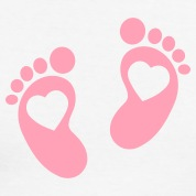 Pink Baby Footprints   Clipart Best