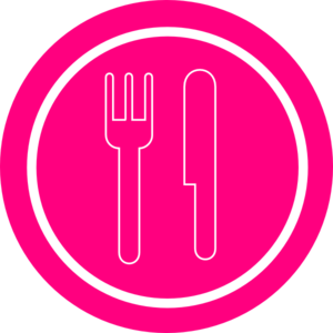 Pink Plate With Knife And Fork Clip Art At Clker Com   Vector Clip Art