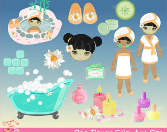 Popular Items For Spa Party Clipart On Etsy