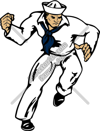 Sailor Clipart And Vectorart  Sports Mascots   Navy Sailors Vectorart