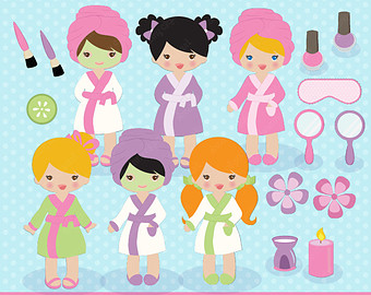 Spa Clipart Spa Party Clipart Spa Clip Art Girls Spa Clipart Kids Spa