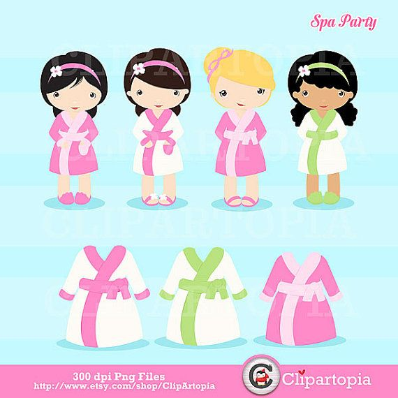 Spa Party Digital Clipart   Girls Spa Party Cute By Clipartopia