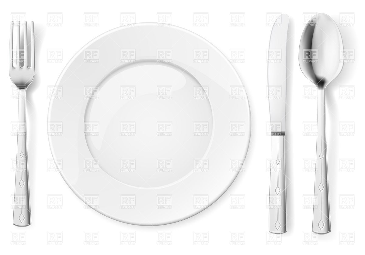 Table Appointments With Plate Fork Spoon And Knife 7083 Food And
