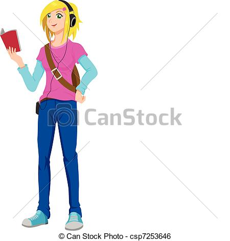 Teenager    Csp7253646   Search Clipart Illustration Drawings And